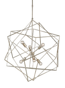 When the illumination wafts through the angular frame, our Aerial puts on a light show.
