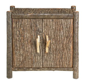 The rustic Elkmont sideboard made of rough-hewn wood