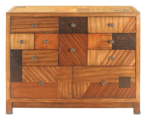 There is definitely imperfect symmetry in the De Stijl chest
