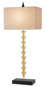 the gold Minaret table lamp