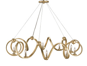 The Ringmaster chandelier in gold
