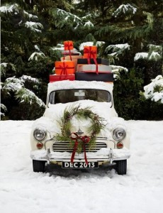 A jaunty Christmas Car to wish you a happy holidays from Currey & Company