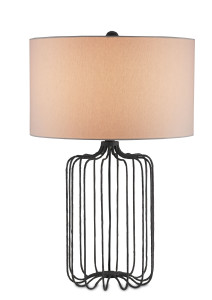 The Furlong table lamp in strips of bent metal