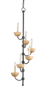 The Amusement chandelier in metal and wood