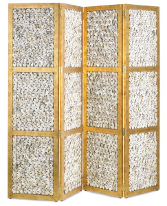 The Margate folding screen is a rough luxe offering