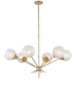 The Shelly chandelier perfect in a Mid-Century milieu