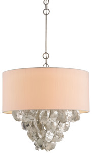 the Currey & Company Capri chandelier has rough luxe charm