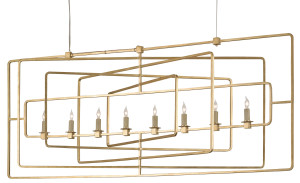 the Currey & Company Metro rectangular chandelier wowed!