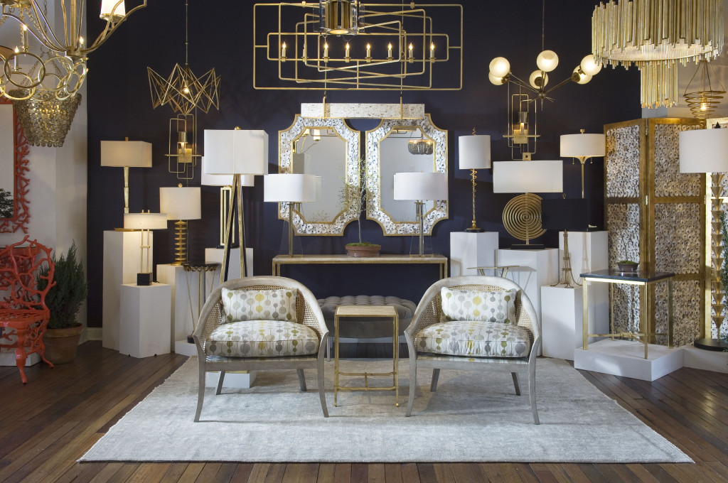 The Currey & Company High Point showroom