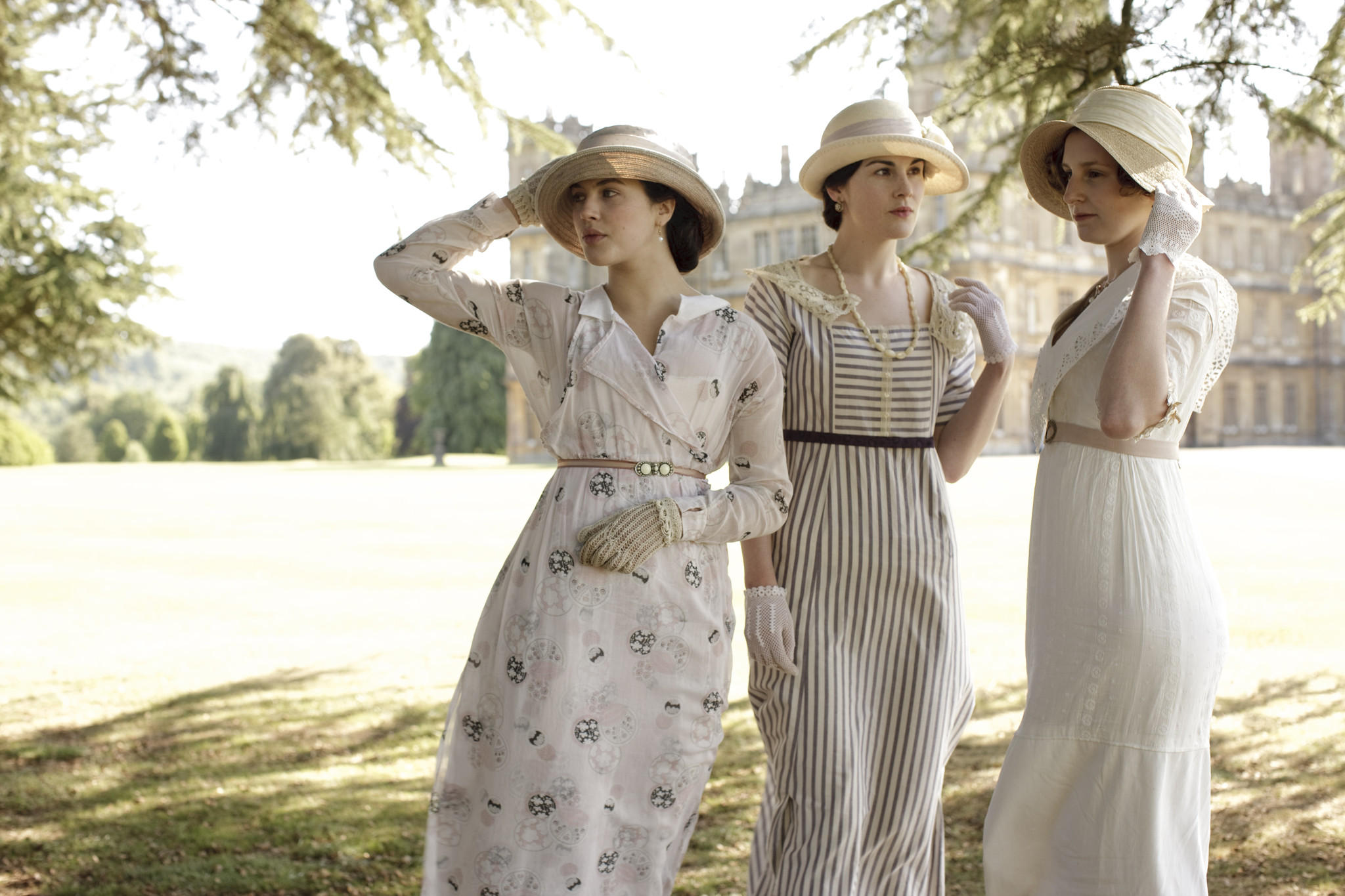 The three daughters of Downton Abbey
