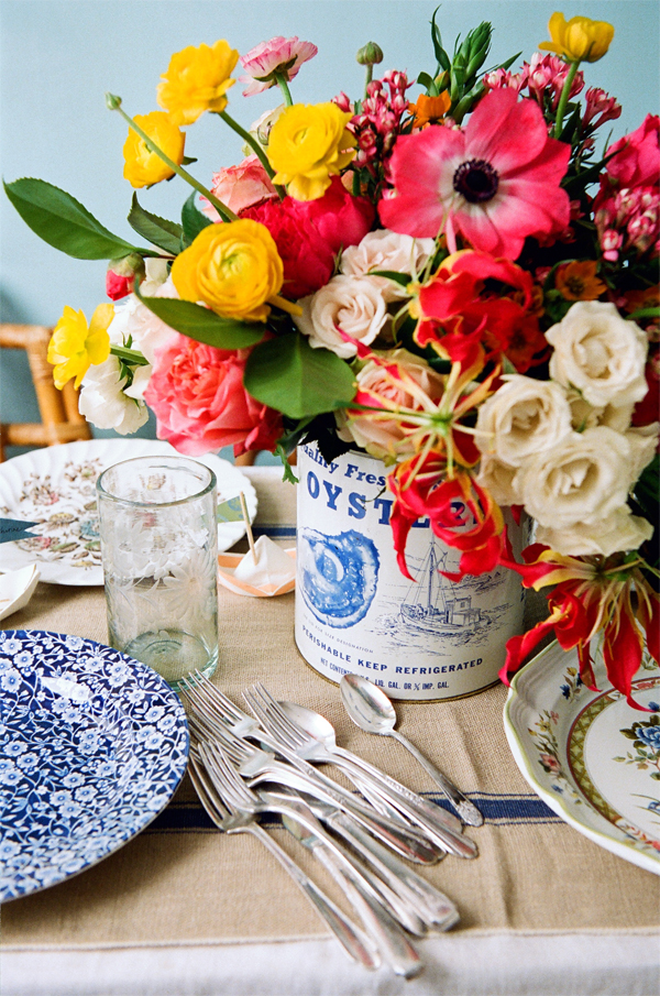 Currey & Company offers this bright tabletop tableau as a way to say happy Labor Day