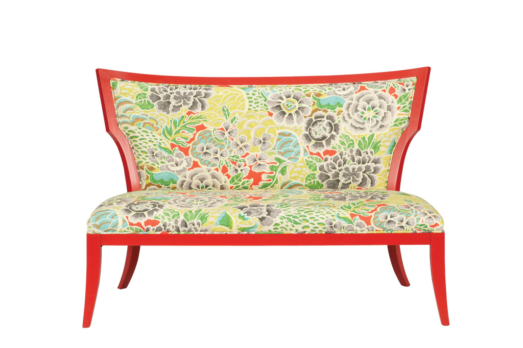 Garbo Settee is one of Currey & Company's new seating offerings