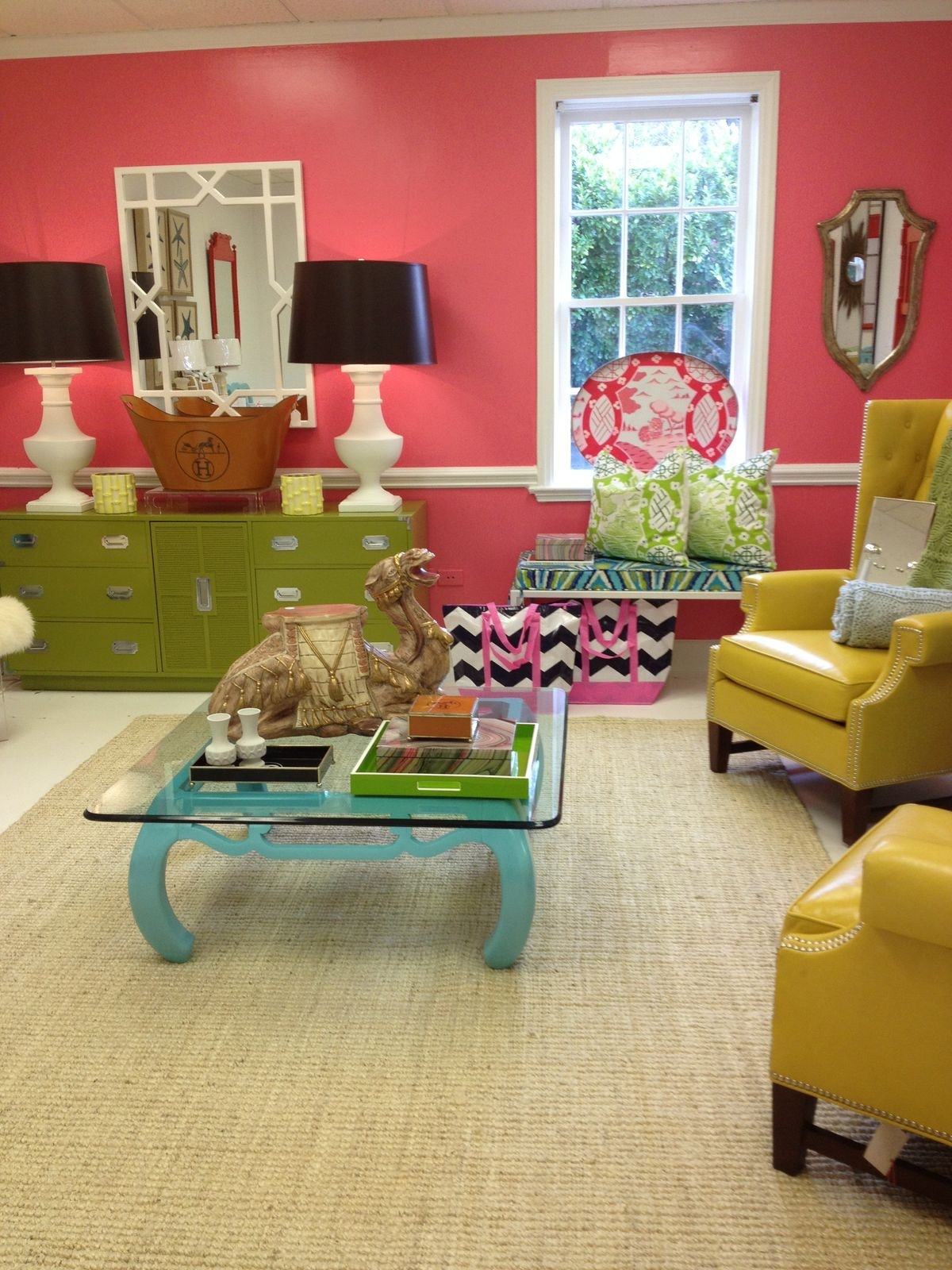 color everywhere in this Parker Kennedy Living space