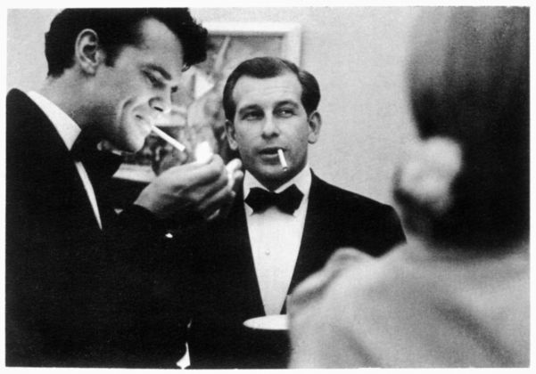 Charles Eames and Eero Saarinen lighting up during the era of the cigarette