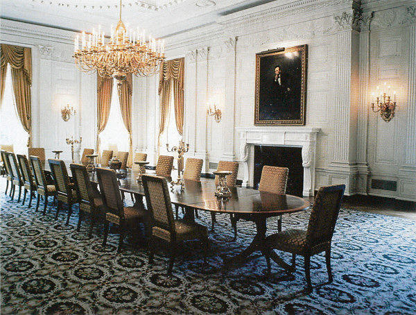 State Dining Room at the White House by Jackie Kennedy who wanted the rooms to be special