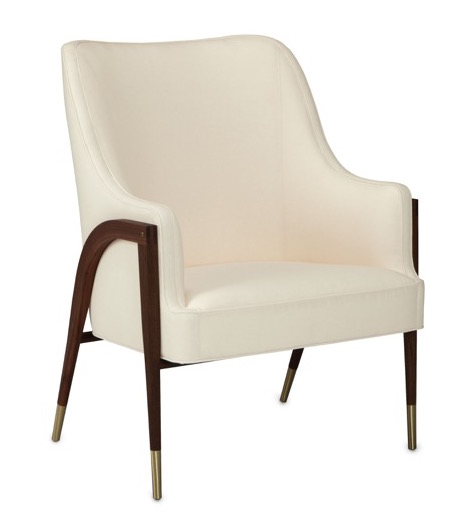 The Austen armchair in Currey and Company's new Dunbar Collection means mid-century's future is secure