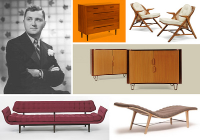Furniture designed by Edward Wormley in Playboy