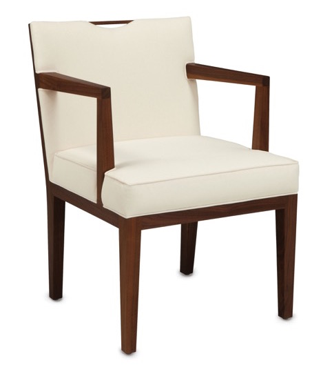 Currey and Company's Dunbar Collection includes the Monroe chaira