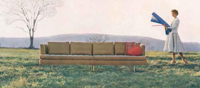 The Dunbar Nine Foot sofa designed by Edward Wormley