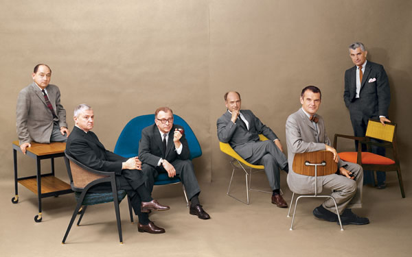 Edward Wormley with design greats in Playboy