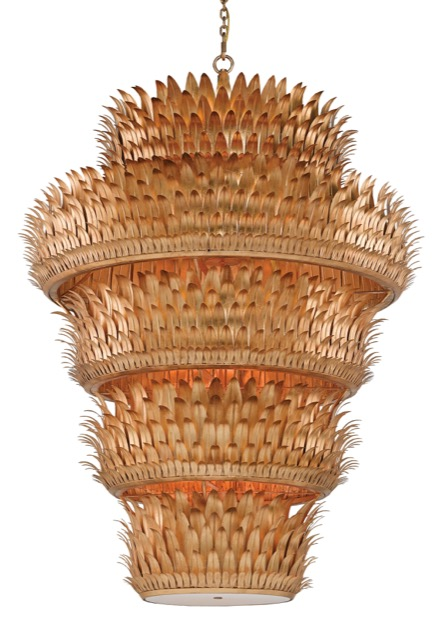 The Havana Grande chandelier by Currey and Company