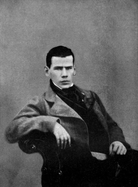 Leo Tolstoy is 20 years old in this photograph