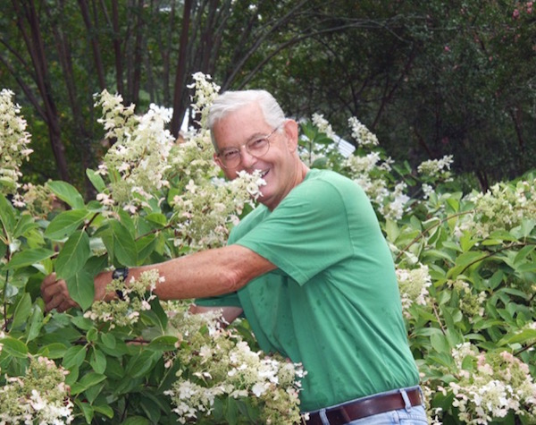 Robert Currey in his Sparta, Georgia, garden