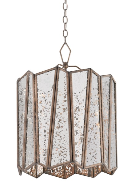 Currey and Company's Trapezoid chandelier