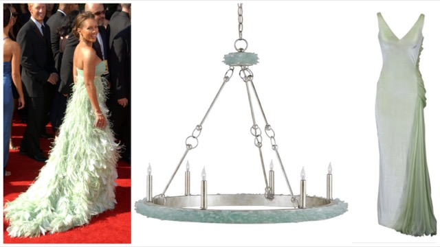Currey and Company Tidewater chandelier with couture