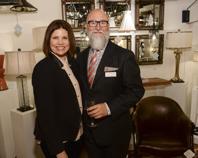Currey and Company's Cecil Adams with Denise McGaha