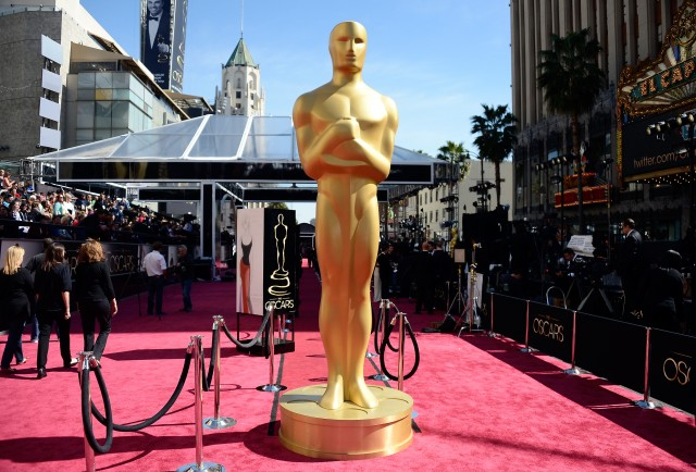 The red carpet at the Oscars