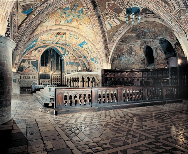 The lower chapel of the Basilica of St. Francis of Assisi