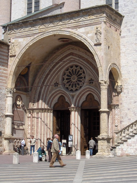 Side Entrance to Basilica of St. Francis of Assisi