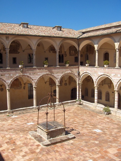 Courtyard of Basilica of St. Francis of Assisi