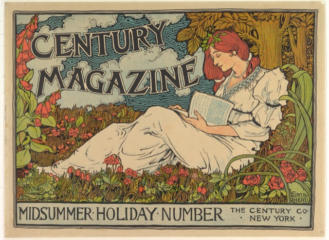 Cover of The Century Magazine by Louis John Rhead (American, born England, 1857–1926, the lithograph dating from 1894. Image courtesy The Metropolitan Museum of Art.