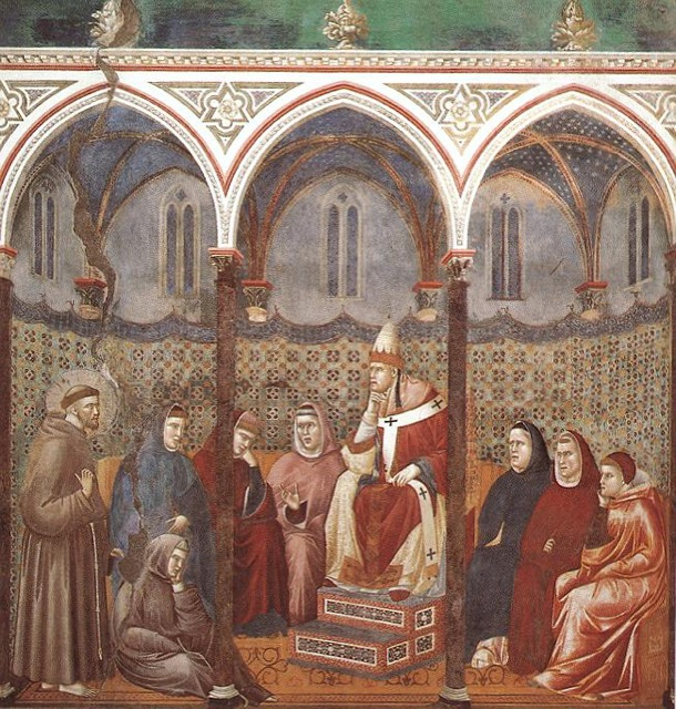 Giotto fresco in Basilica of St. Francis of Assisi