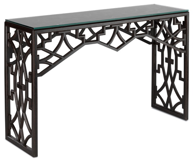 Currey and Company's Nador console table
