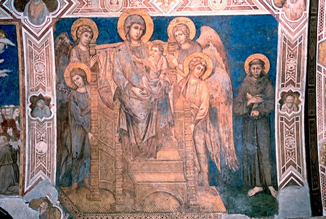 "Cimabue's ""Maestà with St. Francis"""