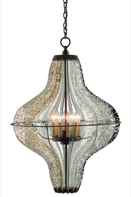 Currey and Company's Zanzibar chandelier