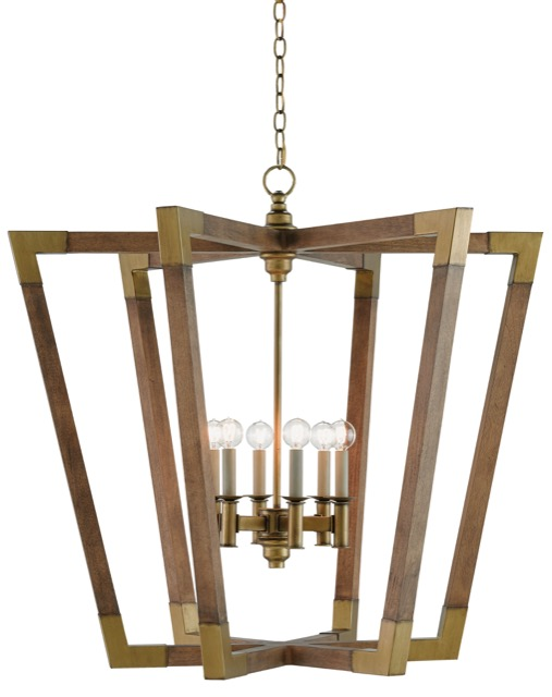 Bastian 6-light chandelier by Currey and Company