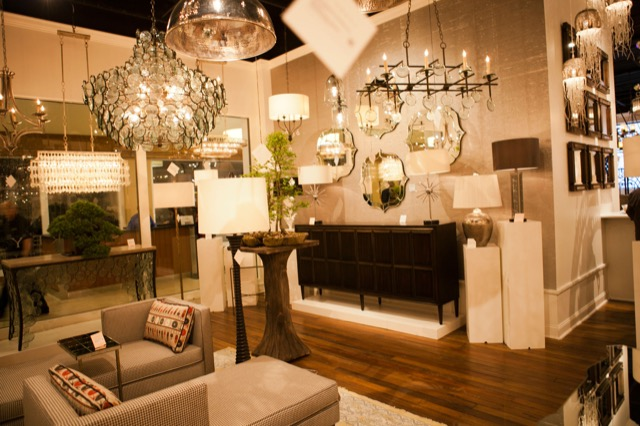 vignette from Currey and Company showroom High Point