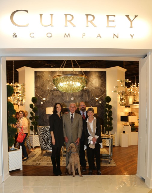 The Currey family during High Point Showroom Expansion
