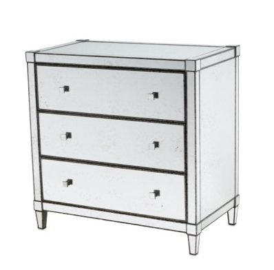 Monarch three-drawer chest by Currey and Company