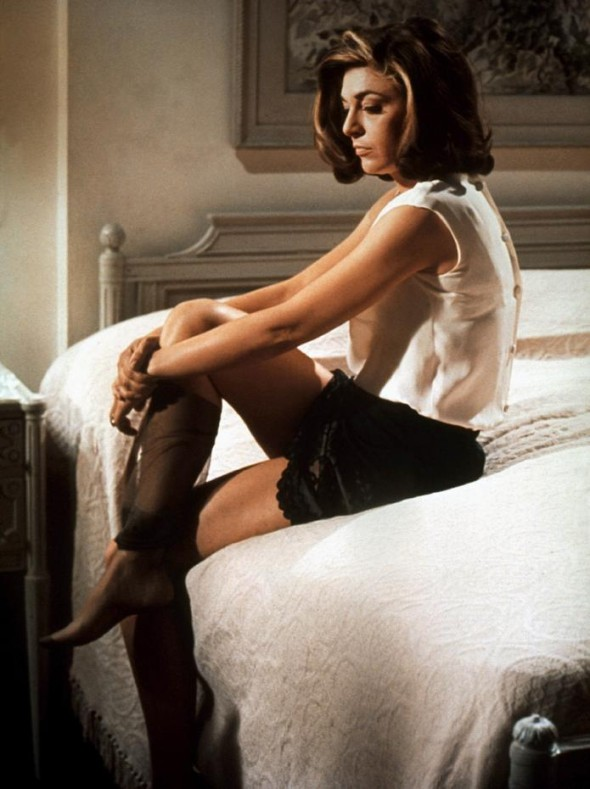 Anne Bancroft in the Graduate, the quintessential femme fatale