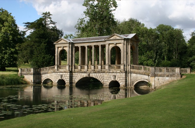 The Palladian Bridge at Stowe House in Buckinghamshire, England