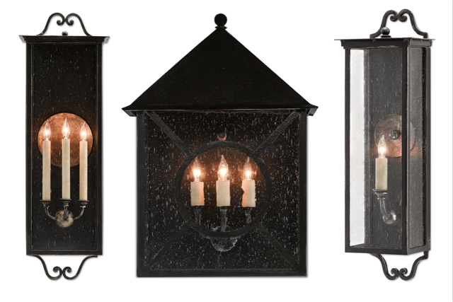 Twelfth Street outdoor lighting by Currey and Company