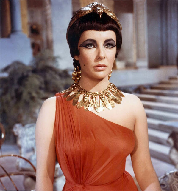 Sultry style with Elizabeth Taylor as Cleopatra