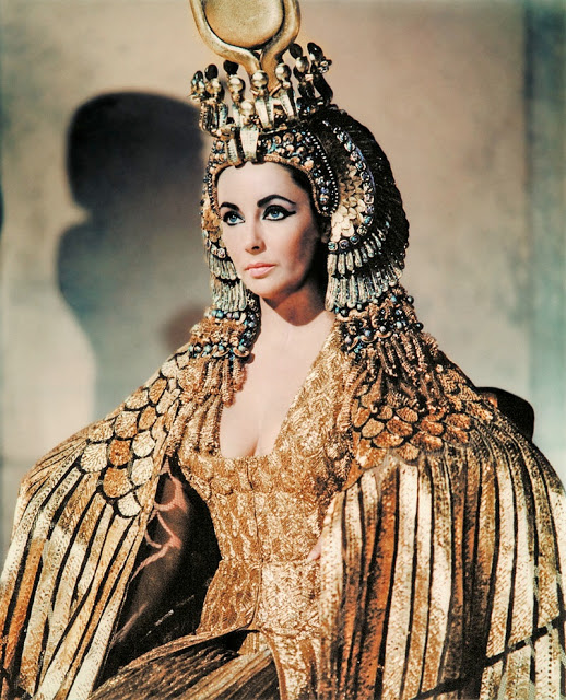 Sultry style is showing Liz Taylor as Cleopatra