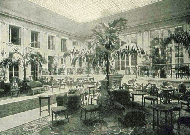 the Carlton hotel Palm Court in 1899 when decadence was at its height