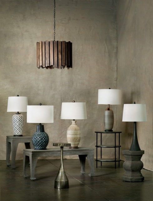 various new table lamps from Currey and Company